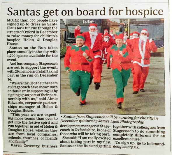 press_cutting_santa_run