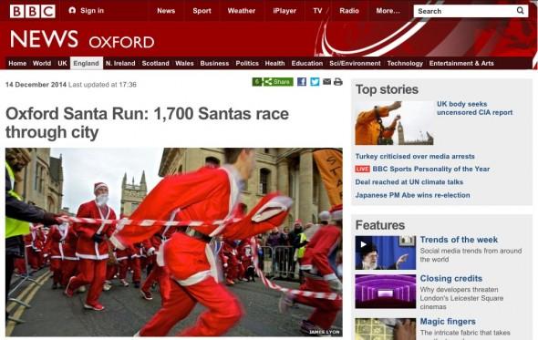 Santa Run - BBC Oxford