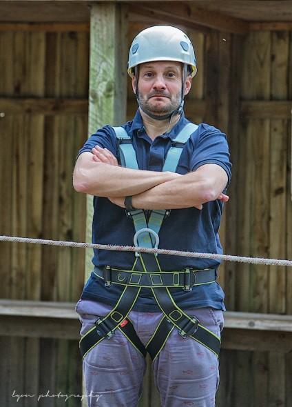 Please note: Safety harness has the labels LEFT and RIGHT on the groin straps so that you don't mix up your testicles!